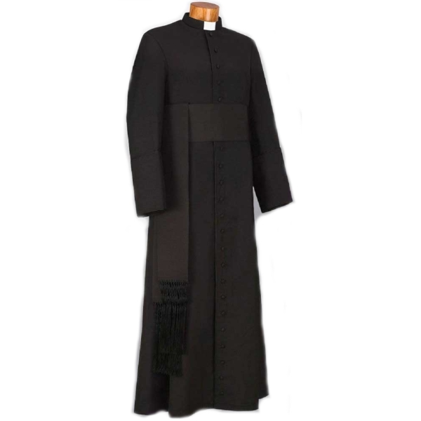 černá klerika, sutana